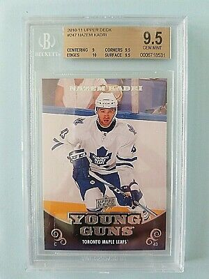 2010-11 Nazem Kadri Upper Deck Young Guns Rookie RC graded GEM MINT BGS 9.5 w/10