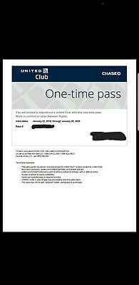 United Airlines UA Club Pass -Quick Email Delivery-Expires12/25/19 or later
