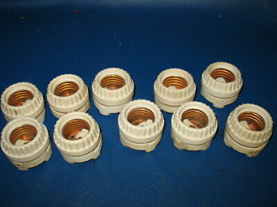 Lot of 10 Vintage Porcelain Light Bulb Sockets Gas Pump Sign