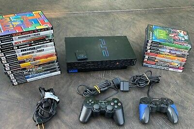 Genuine Sony PS2 PlayStation 2 PHAT SCPH-30001 R Bundle 23 Games & Memory Card