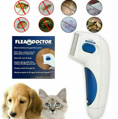 Flea Doctor Electric Flea Comb-Great for Dogs Cats Pet Brush Anti Tick Control