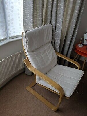 Fine Ikea Poang Rocking Chair And Footstool 29 63 Picclick Uk Machost Co Dining Chair Design Ideas Machostcouk