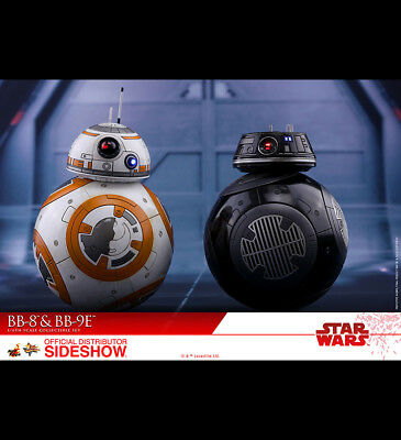 NIB Hot Toys Star Wars The Last Jedi BB-8 & BB-9E Movie Masterpiece Set