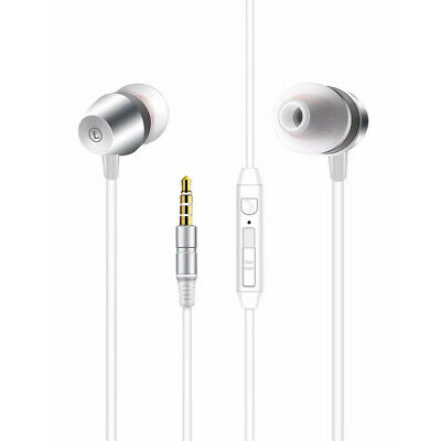 High Quality Sound  Universal In-ear Earphone In Silver
