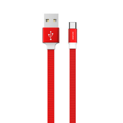 High Speed Type-C Steel Data Cable in Red