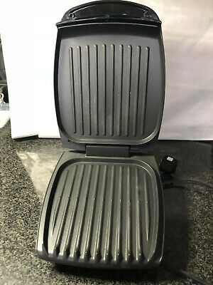 George Foreman (10782) 4-Portion Family Health Grill - steel stainless
