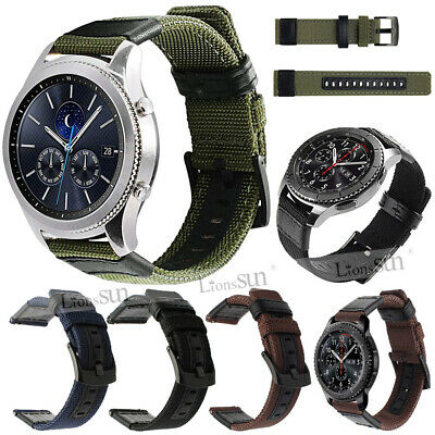 Easy Fit Nylon Leather Band strap for Samsung Gear Sport /Ticwatch 2/Amazfit BIP