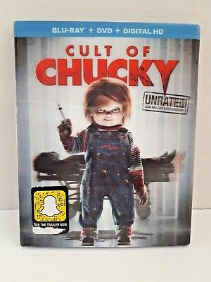 Cult Of Chucky ( Blu-Ray + Dvd + Digital ) New & Sealed with slipcover
