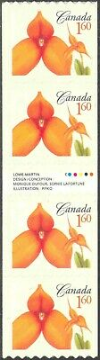 2007 Canada #2247i Self-Adhesive (MNH) Gutter Strip of 4 Flower Coils