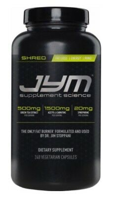 JYM SHRED (240 CAPSULES) fat burner diet focus lose belly weight energize