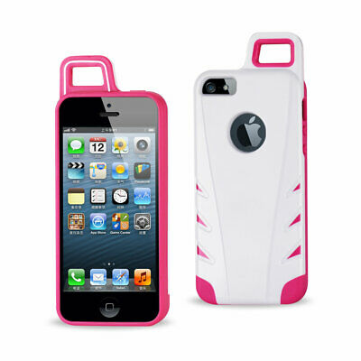 Reiko Iphone 5/5S/Se Dropproof Workout Hybrid Case With Hook In White Pink