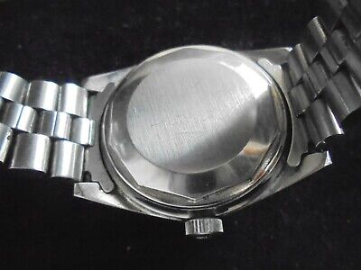 7aad95dd7a9 VTG TISSOT PR 516 BLUE FACE DAY DATE ORIGINAL STAINLESS STEEL BAND AUTOMATIC  70s