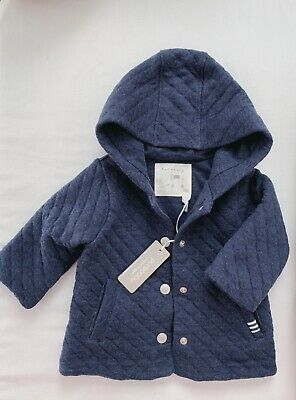 Purebaby Boy Navy Classic Quilted Jacket Size 00