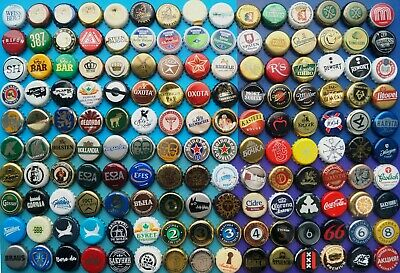 150 Differrent Used Bottle Beer Soda Crown cork Caps WITH DENTS