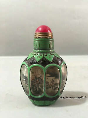 collect Chinese Colored glaze Handmade Animal Snuff bottle snuff box CCS