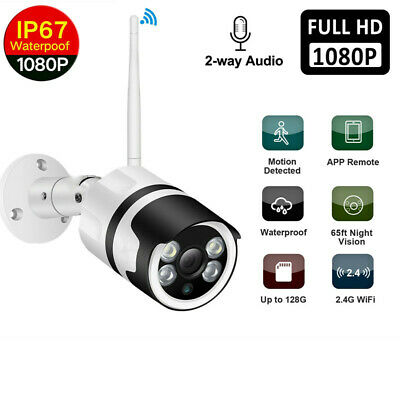 Wireless WIFI IP Camera HD 1080P Network Cam CCTV In/Outdoor Security IR Night A