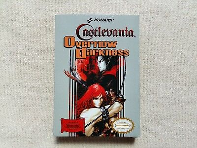 NES Castlevania Overflow Of Darkness, Custom Art case only, no game included