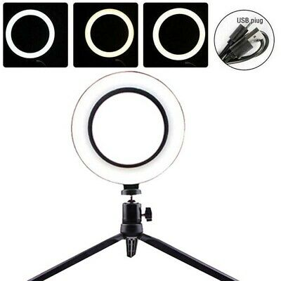 """6"""" 48LED 2835SMD Photography Ring Light Dimmable Lighting + Tripod Stand"""