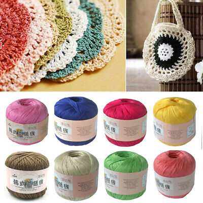 Cotton Yarn Size 0.8mm Thread Crochet Lace Knitting Embroidery 50g Wholesale