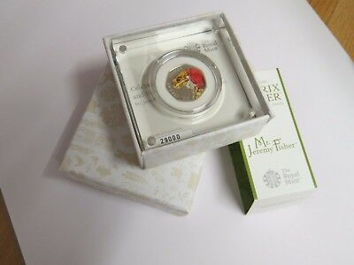 50p Beatrix Potter Mr Jeremy Fisher N# 29000 silver proof 2017 - New and boxed