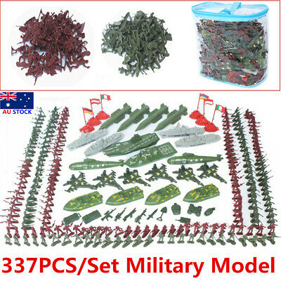 337pcs Military Playset Plastic Kid Soldier Toy Army Men 4cm Figures Accessories