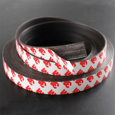 2M Long One Side Self Adhesive Magnetic Tape Magnet Strip Width 1-2mm