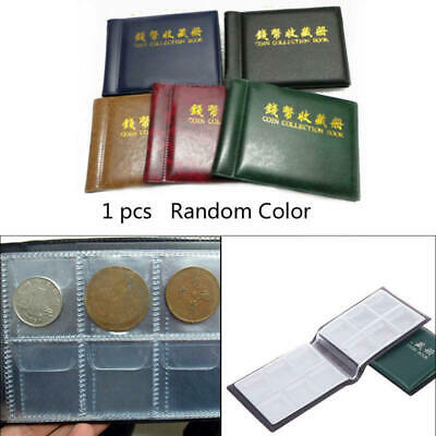 Coin Book Collection 60 Holders Penny Album Can Hold 50P and 2 Pound Coin fds