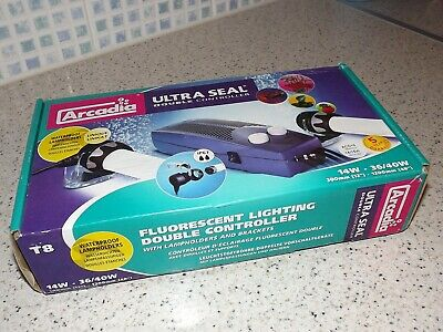 Arcadia Ultra Seal Double Light Controller.T8. *NEW*. Fish tank Lighting.