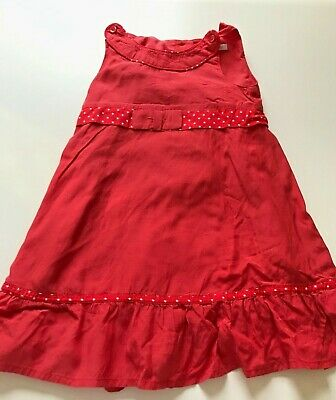 M&S Marks & Spencer Autograph Red Party Dress - Girls Age 2 - 3 Years, Used