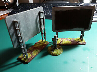 WARGAMES TERRAIN - Billboards for 15mm to 28mm 1950s style Fallout Sci-fi  Modern