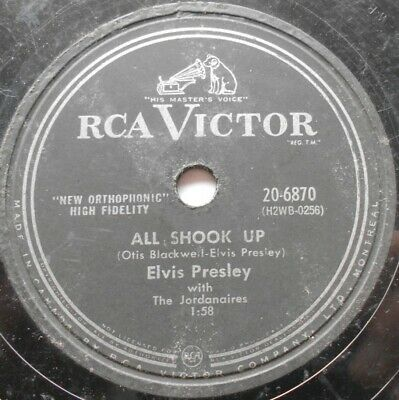 ELVIS PRESLEY All Shook Up /That's When Your Heartaches Begin CANADA 1957 RCA 78