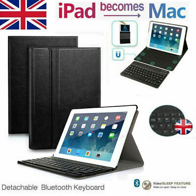 UK for Apple iPad 2 3 4 iPad Mini 1 2 3 Bluetooth Keyboard Cover Case with Stand