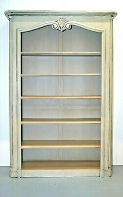 Country House Style Duck Egg Bookcase Library With Adjustable Shelves