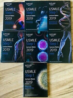 Kaplan USMLE Step 1 Lecture Notes 2019 Brand New With Free 2 Day Shipping USA