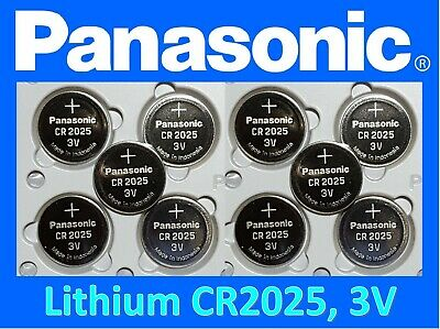 **Save $1, Buy Any 2 packs** 10 pieces Panasonic CR2025 3v Fresh Lithium battery
