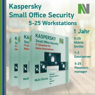 Kaspersky Small Office Security 6 7  (ab 5 PC, 5 Mobile Geräte, 1 Server) 1 Jahr
