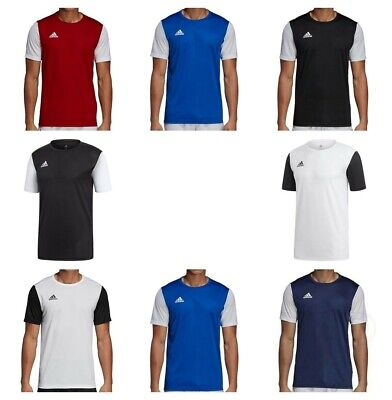 Adidas Estro Mens T Shirt Climalite Short Sleeve Jersey Gym Football Tops