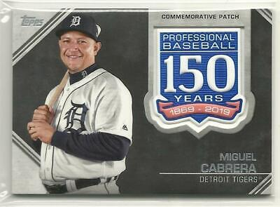 Miguel Cabrera 2019 Topps 150 Years Commemorative Patch Detroit Tigers