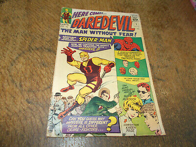 Daredevil #1  Marvel 1964 Silver Age 9d Lee Kirby 1st app & origin Daredevil VG-
