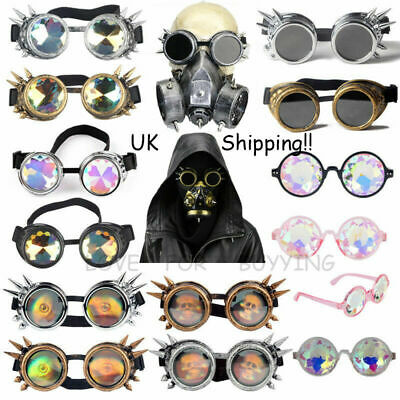 UK Style Vintage Rivet Goggle Cyber Gothic Goggles Retro Cosplay Welding Glasses