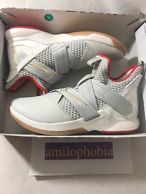 new products e3659 0c3de NEW MENS NIKE Lebron Soldier XII Size 14 Light Bone Basketball Shoes