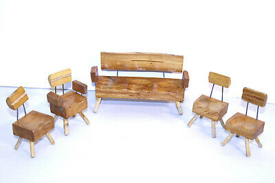 Doll House Toy Chair Miniature Wood Hand Made  Lot of 5
