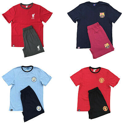 Mens Liverpool Manchester United Barcelona Man City FC Pyjamas Official Short