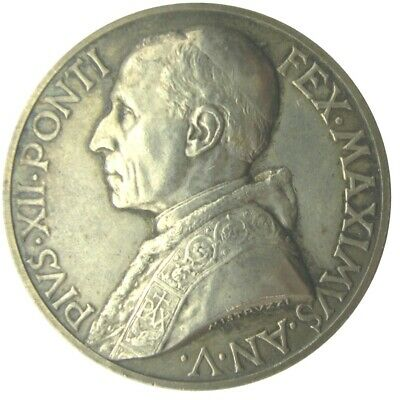 MEDAL - Pope Pius XII - Year  1943 - Consecration of the peoples to Mary  silver