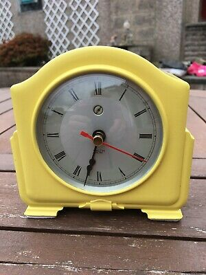 Art Deco 1930s SMITHS ENFIELD BAKELITE MANTEL CLOCK (Converted to Quartz)