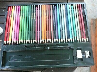 40 Colour Pencils Crawford & Black Quality Colouring In Drawing Art Crayons