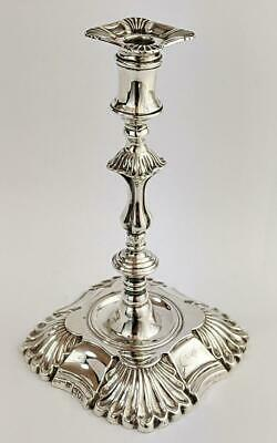 Victorian Sterling Silver George Ii Style Taperstick / Candlestick 1897