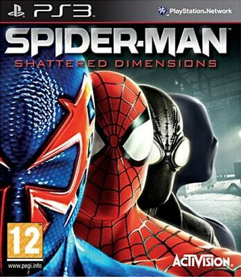 Spiderman Shattered Dimensions Sony Play Station 3 Fast and Free UK Postage