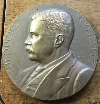 """NICE Theodore Roosevelt INAUGURAL BRONZE 3"""" U.S. Mint MedaL SOLD OUT US MINT"""