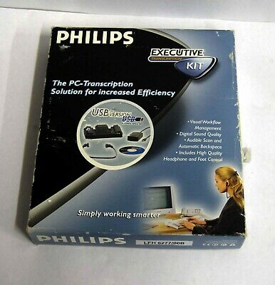 Philips LFH 6277/00B Executive PC Transcription Footpedal & Headphones Kit